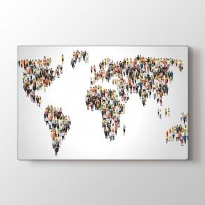 Dünya İnsanları - Ofis Duvar Tablosu