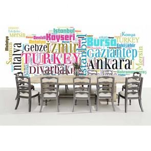 Tipografi Yazılı Türkiye Haritası Önizleme