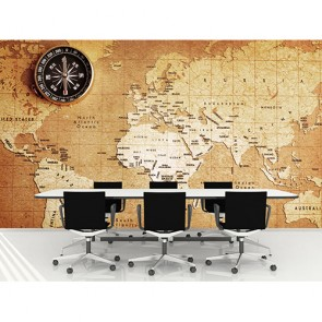 Eskitme Kağıt Dünya Haritası - Poster Duvar Kağıtları