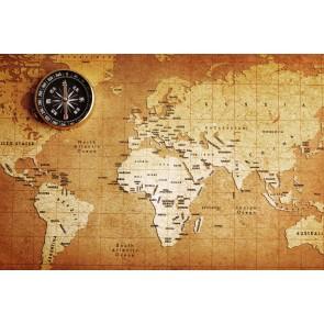 Eskitme Kağıt Dünya Haritası