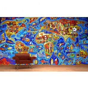 Graffiti Dünya Haritası - Duvar Resmi