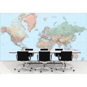 Koyu Renklerde Dünya Haritası