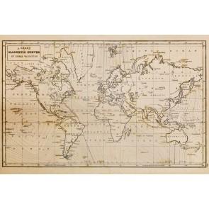 1844 Yılı Dünya Haritası