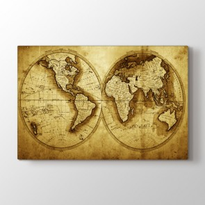 1711 Yılı Dünya Haritası Tablosu | Dünya Haritası Tabloları