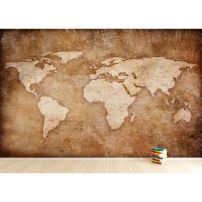 Kazınmış Dünya Haritası 3 Boyutlu Duvar Kağıdı