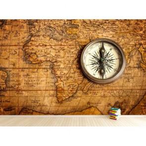 Kuzey Yıldızı Dünya Haritası 3 Boyutlu Duvar Kağıdı