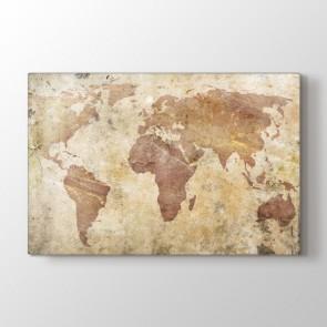 Duvardan Dünya Tablosu | Dünya Haritası Tabloları