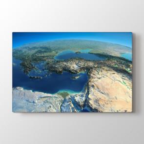 Uzaydan Bakınca Türkiye Tablosu | Harita Tablo