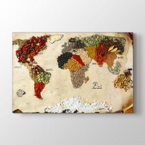 Kuruyemiş ve Baharatlardan Dünya Tablosu | Dünya Haritası Tablosu