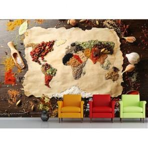 Şefin Dünya Haritası 3 Boyutlu Duvar Kağıdı