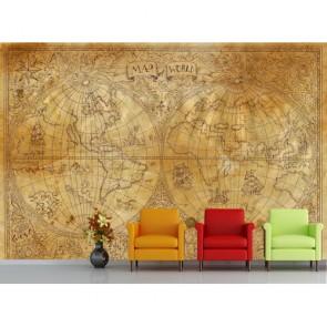 İki Boyut Eski Dünya 3 Boyutlu Duvar Kağıdı