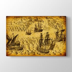 Tarihi Korsan Gemileri Tablosu | Harita Tablo