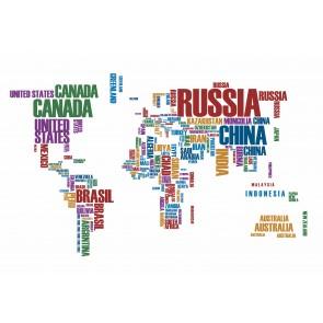 Yazıyla Dünya Haritası