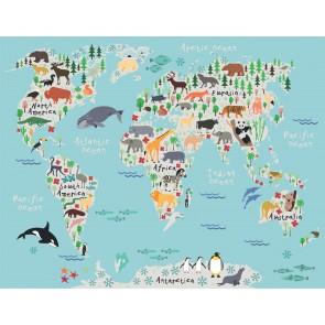 Hayvanların Dağılımı Dünya Haritası