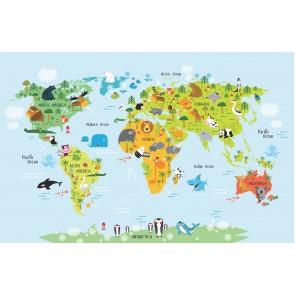 Hayvanlar Alemi Dünya Haritası
