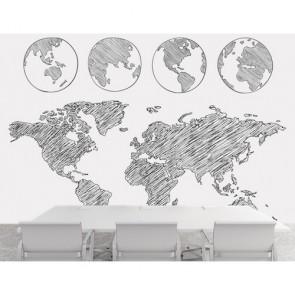 Dünya Dört Dönüyor 3 Boyutlu Duvar Kağıdı