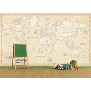 Yıllanmış Dünya Haritası 3 Boyutlu Duvar Kağıdı