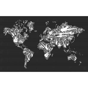 Müzik Enstrümanlarından Dünya Haritası