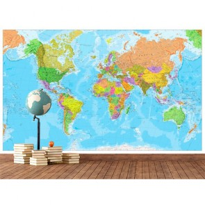 Dekorasyon için Dünya Haritası - Duvar Kağıdı Modeli