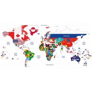Bayraklardan Dünya Haritası