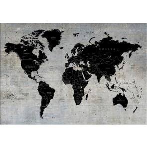 Beton Duvarda Dünya Haritası