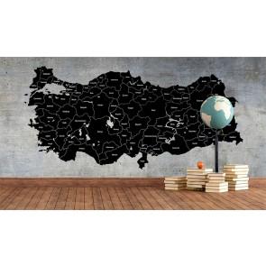 Beton Zeminde Türkiye Haritası - Ofis için 3D Duvar Kağıdı Uygulama