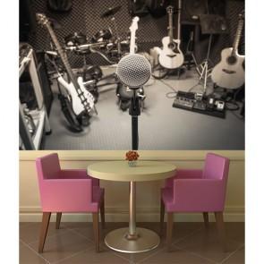 Kayıt Stüdyosu Müzik ve Stüdyo Temalı Duvar Kağıdı Modeli