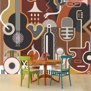Müzik ve Sanat Müzik Temalı Duvar Kağıdı Modeli