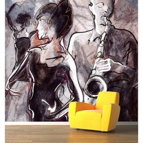 Dans ve Müzik Müzik Temalı Duvar Kağıdı Modeli