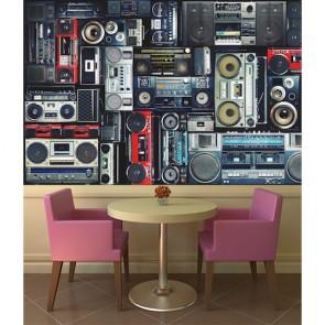 Müzik Setleri Müzik Temalı Duvar Kağıdı Modeli