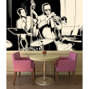 Jazz Dönemi Müzik Duvar Kağıdı Modeli