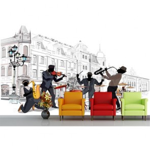 Sokak Müziği - Müzik ve Dans Duvar Kağıdı Modeli