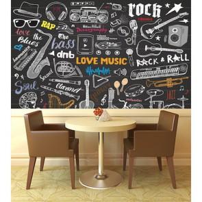 Müzik Odası - Müzik Temalı Duvar Kağıdı Modeli