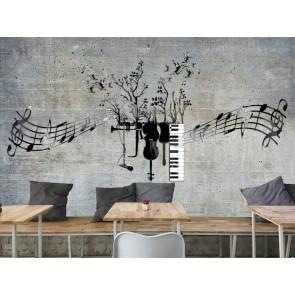 Müzik Olmadan Olmaz - Müzik Temalı ve Müzik Odası Duvar Kağıdı Uygulama
