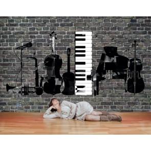 Müzik Benim Hayatım - Müzik Temalı ve Müzik Odası Duvar Kağıdı Uygulama