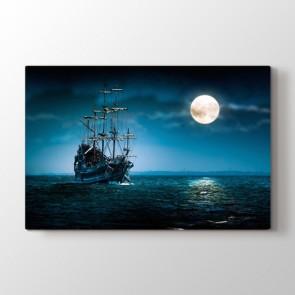 Korsan Gemisi - Doğa Manzara Duvar Dekor Kanvas Tablo
