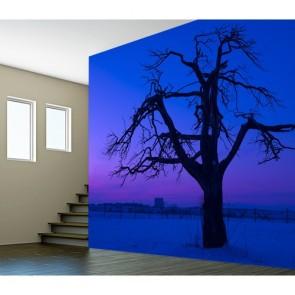 Mor Gökyüzü 3 Boyutlu Manzaralı Duvar Kağıdı Önizleme
