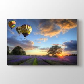 Balonların Dansı - Doğa Manzara Kanvas Tablosu
