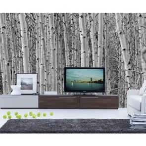 Kavak Ağaçları 3 Boyutlu Duvar Kağıdı Önizleme