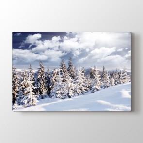 Kış Tepesi - Doğa Manzara Kanvas Tablo Modeli