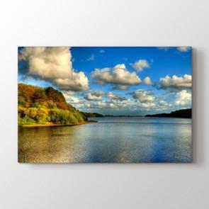 Göl Manzarası - Doğa Manzara Resimli Kanvas Tablo Modeli