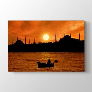 İstanbul Silüeti - Şehir Duvar Tablosu Modeli