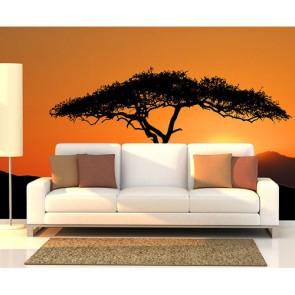 Yalnız Ağaç - Resimli Dekoratif Duvar Kağıdı