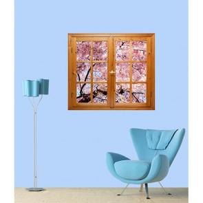 Çiçekli Pencere Duvar Posteri Önizleme