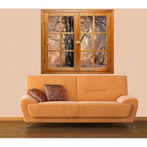 Pencereden Kış Manzaralı Duvar Kağıdı Önizleme
