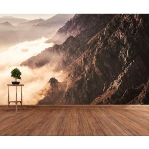 Dağ Kayalıkları 3 Boyutlu Duvar Kağıdı