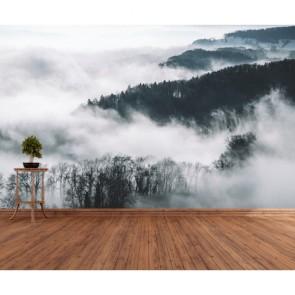 Dağ Bulut Birleşimi 3 Boyutlu Duvar Kağıdı