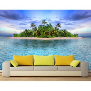 Cennet Adası 3 Boyutlu Manzaralı Duvar Kağıdı Modeli