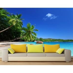 Maldivler 3 Boyutlu Manzara Duvar Kağıdı Modeli