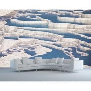 Pamukkale Beyazı 3 Boyutlu Manzara Duvar Kağıdı Modeli